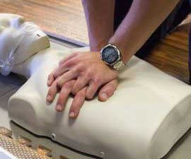 Compressions on a CPR dummy